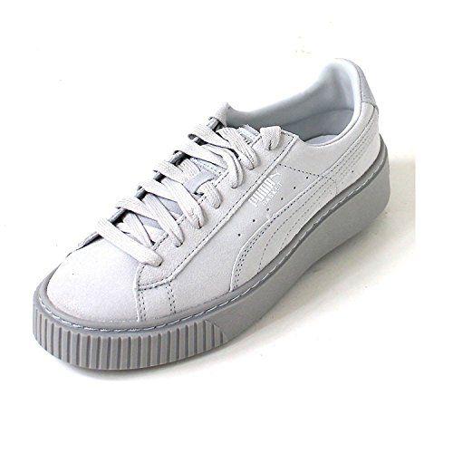 puma basket platform damen weiß