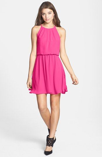 Pink Lace Bardot Neck Skater Dress | Clothing, Formal dresses and ...