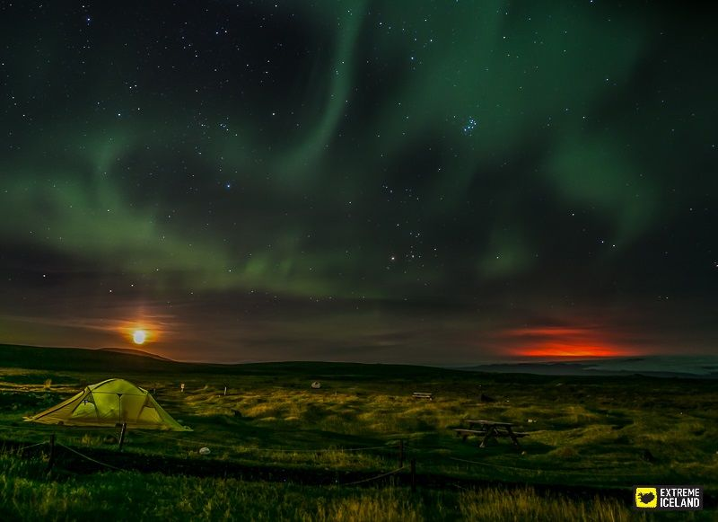 C&ing beneath the stars and the northern lights in Iceland! AMAZING VIEW! #C&ing & Camping beneath the stars and the northern lights in Iceland ...