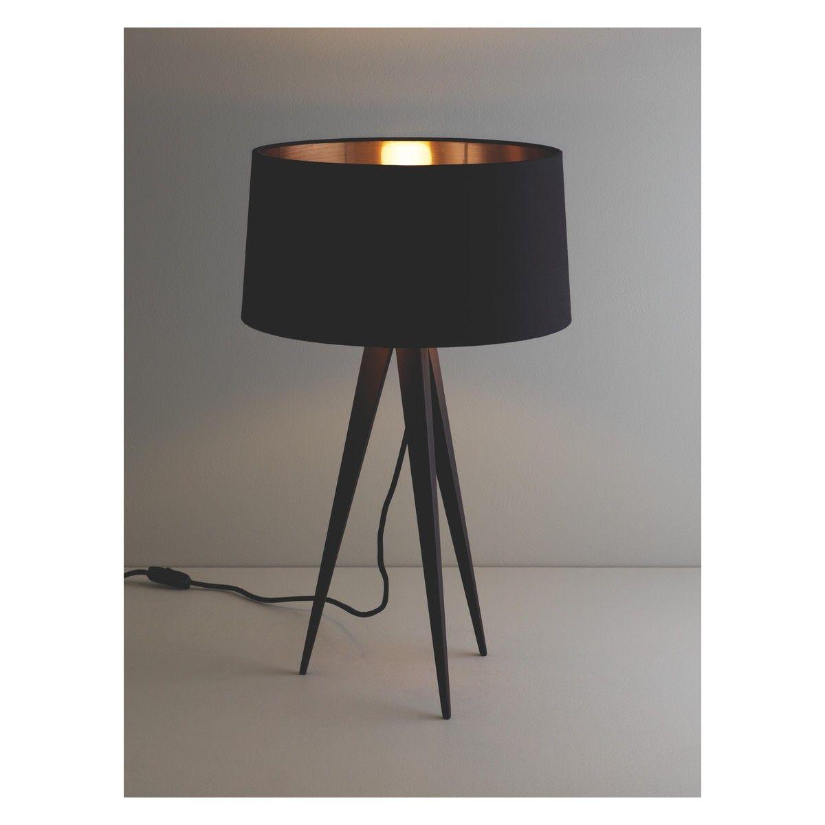Gentil YVES Black Metal Tripod Table Lamp Base