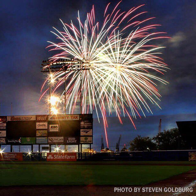 Twitter Harbor Park  Norfolk  Happy 4th of July