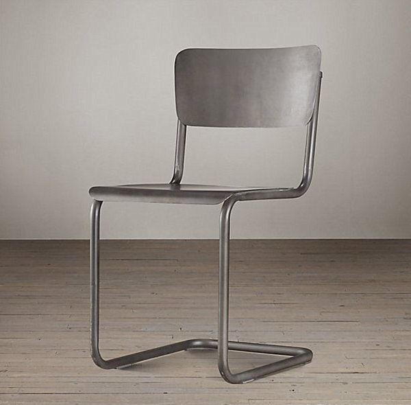 Metal Furniture Design: Modern And Vintage : Modern Metal Schoolhouse Chair