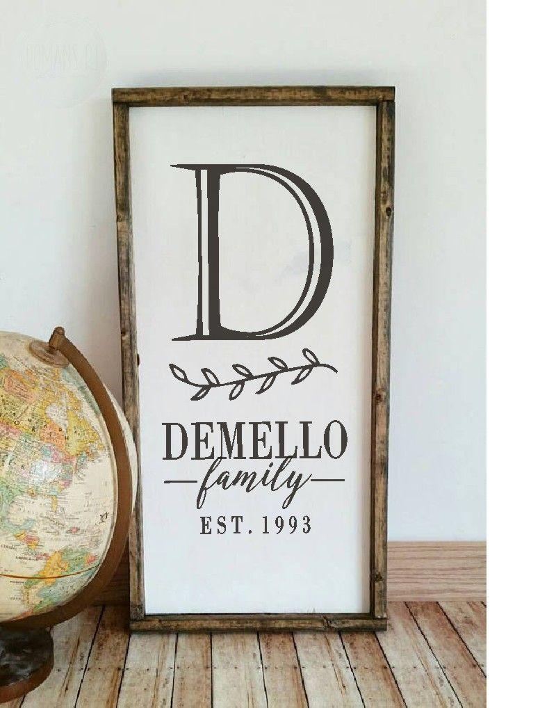 Diy monogram farmhouse sign family name stencil established date