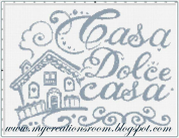 Amato Casa dolce casa | Idee punto croce | Pinterest DY13