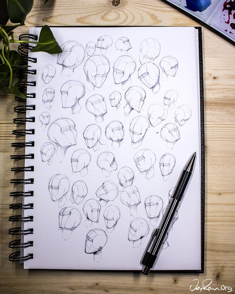 How to Draw the Head from Any Angle PDF Worksheets