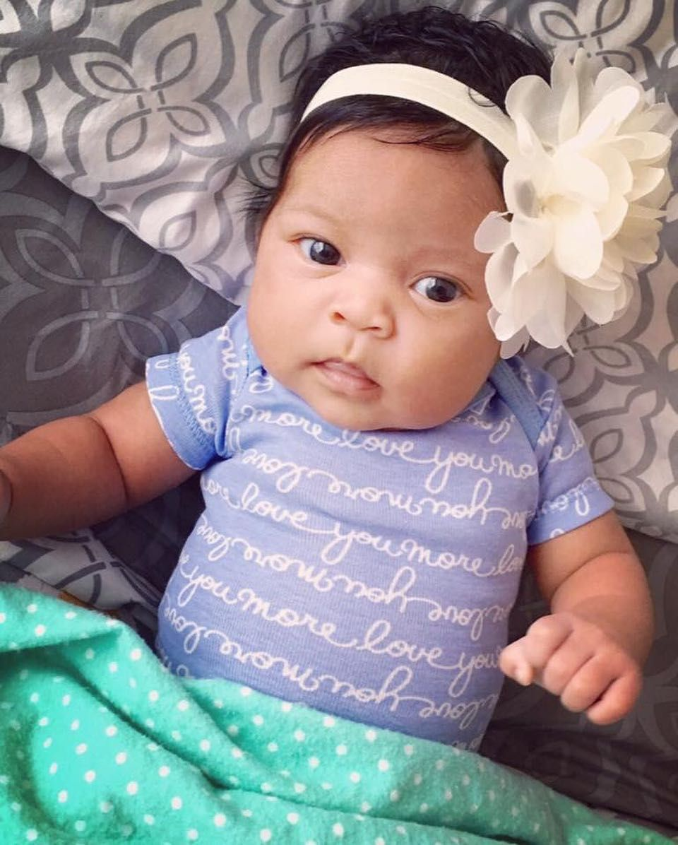 celina skye 1 month mexican african american precious baby