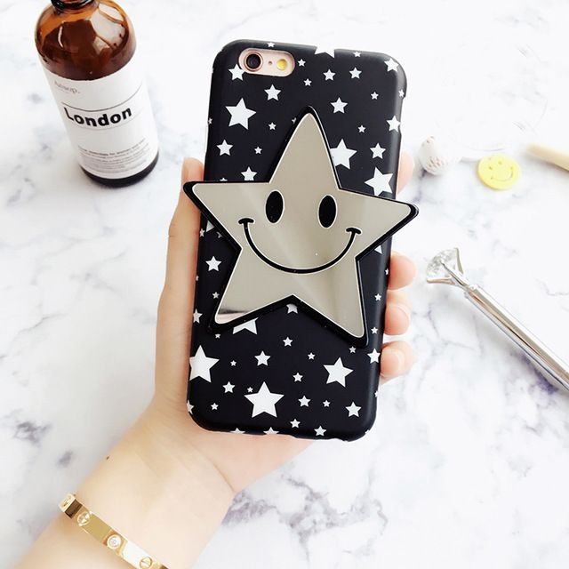 Price: US $5.92  Happy Korean Smile Stars mirror phone case for iphone 6 6s 6plus 6splus Back Cover soft back gel funda shell free shipping