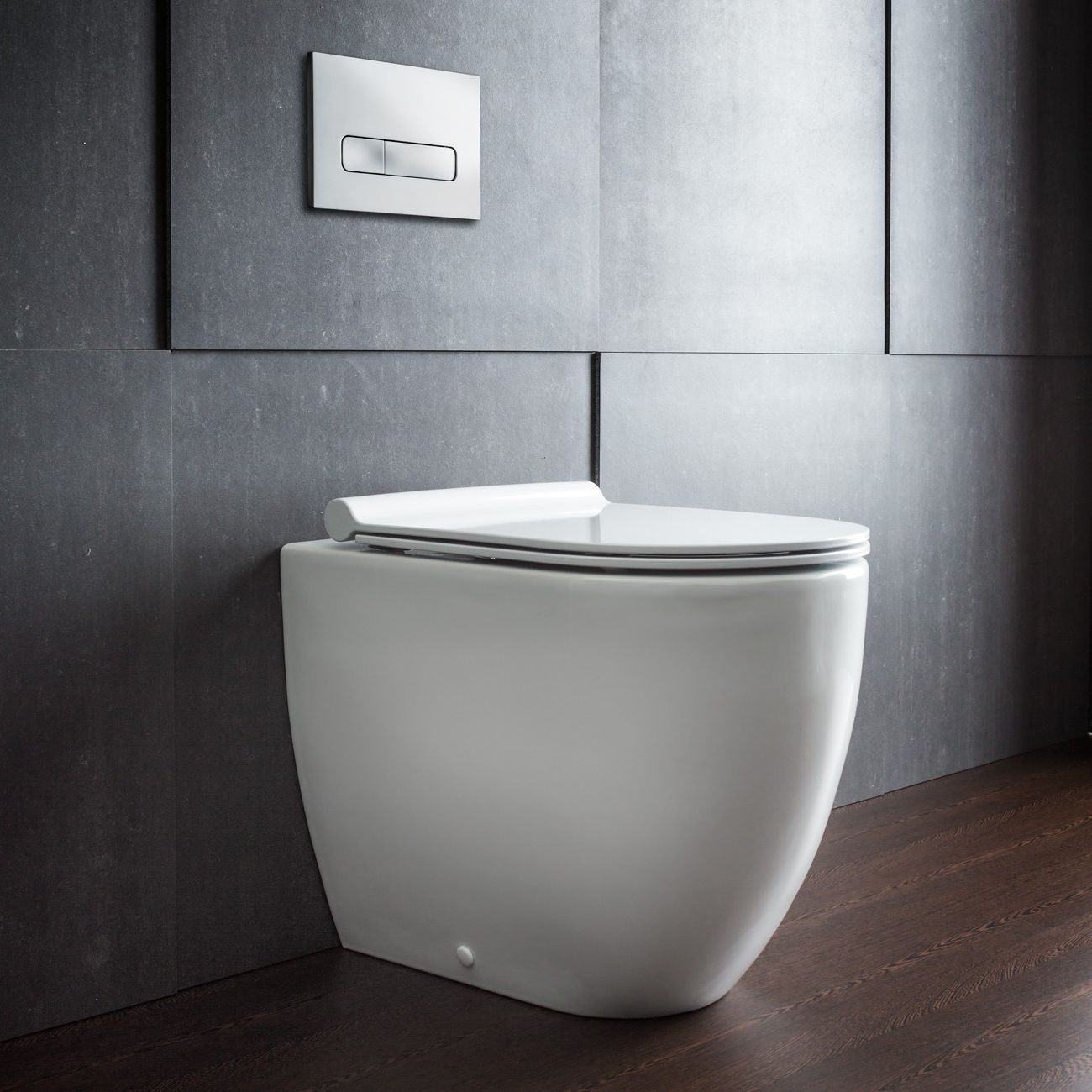 Bathroom , Sleek Bathroom Design with Wall Mounted Toilet : Wall ...