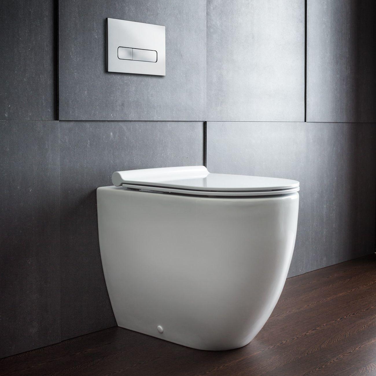 Bathroom Sleek Bathroom Design With Wall Mounted Toilet Wall