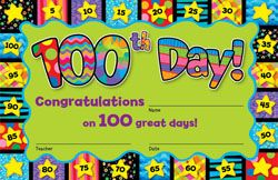 Give these to your students to celebrate the 100th day of school! Check out this 100th Day Award.