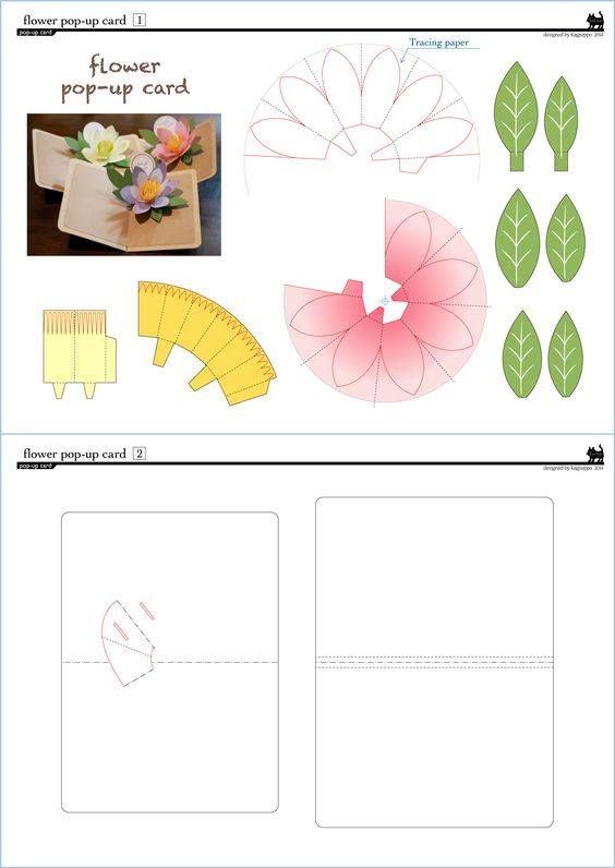 Make Flower 3d Pop Up Card Kirigami Pattern Pop Up Card Templates Pop Up Flower Cards Kirigami Patterns