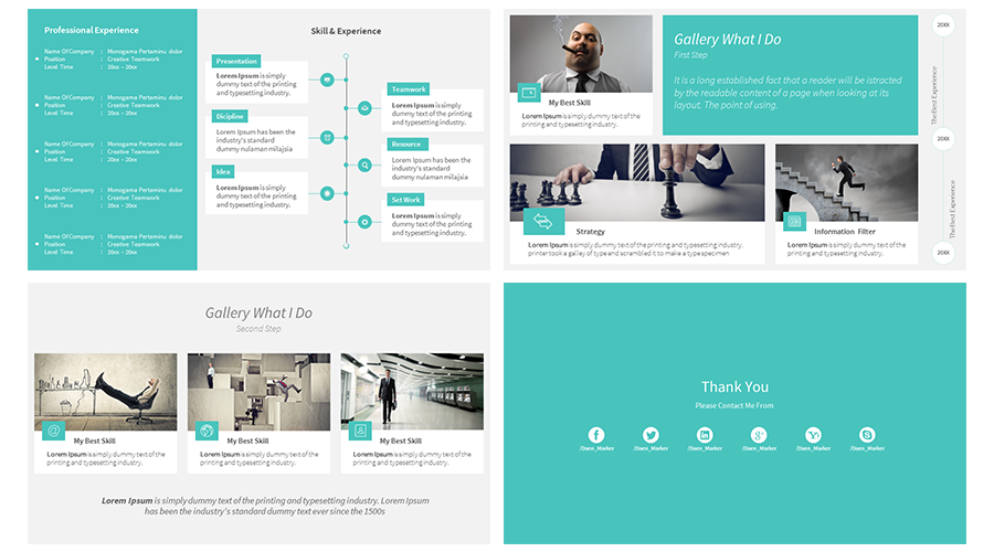 Stock Powerpoint Templates Free Download Every Weeks Weekly Free Download Personal Resume Cv Powerpoint Template Free Portfolio Design Personal Resume