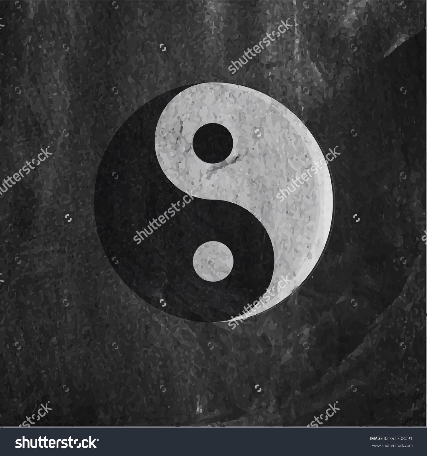 Ying Yang Symbol Of Harmony And Balance. Ancient Chinese Symbol. Sacred Geometry. Стоковая векторная иллюстрация 391308091 : Shutterstock