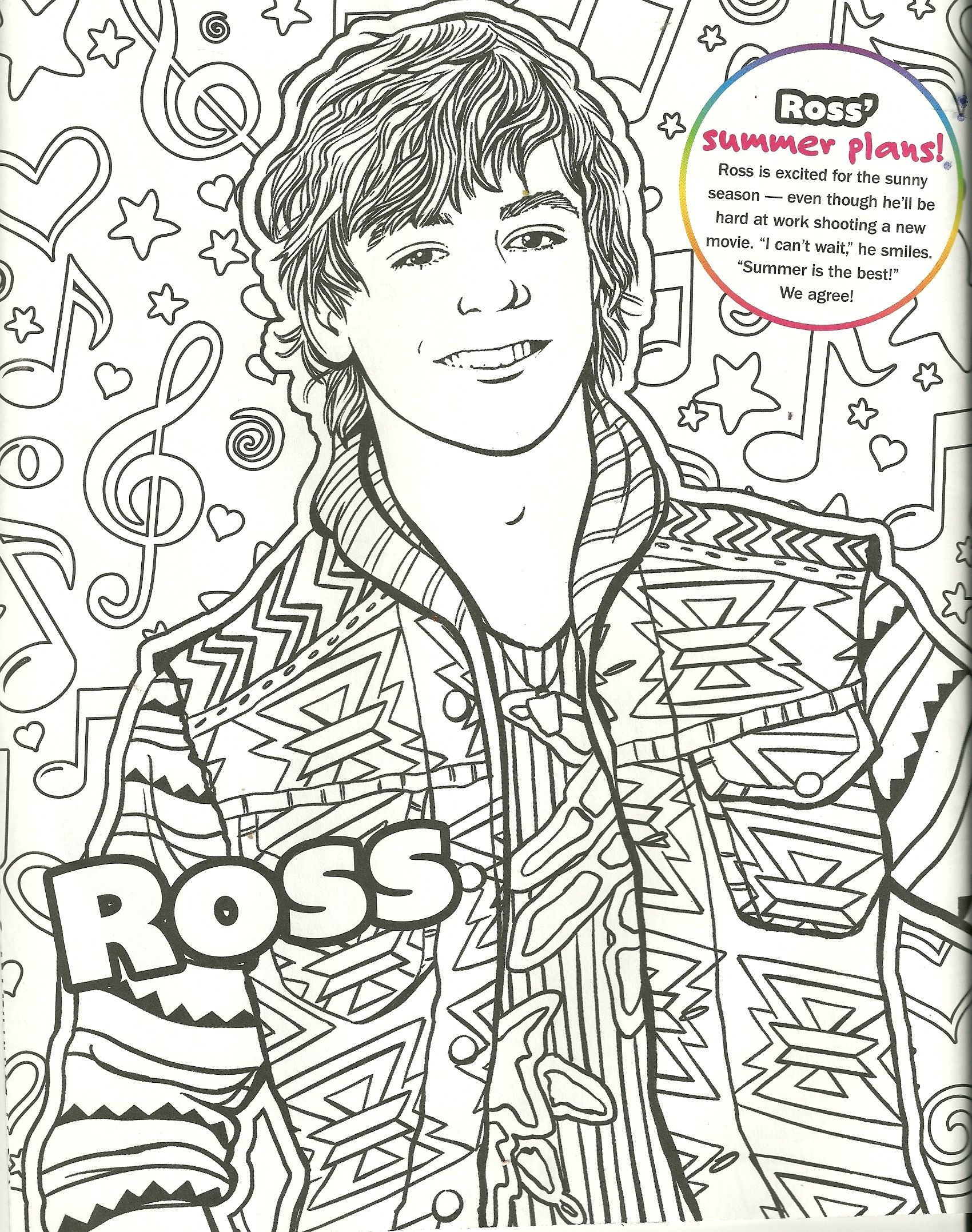 Ross linch free coloring pages for Dove cameron coloring pages