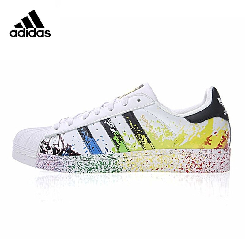 f6dff9a2158a9 Oberlo - Original New Arrival Authentic Adidas Clover Superstar Gold Label  Men and Women Skateboarding Shoes Sneakers