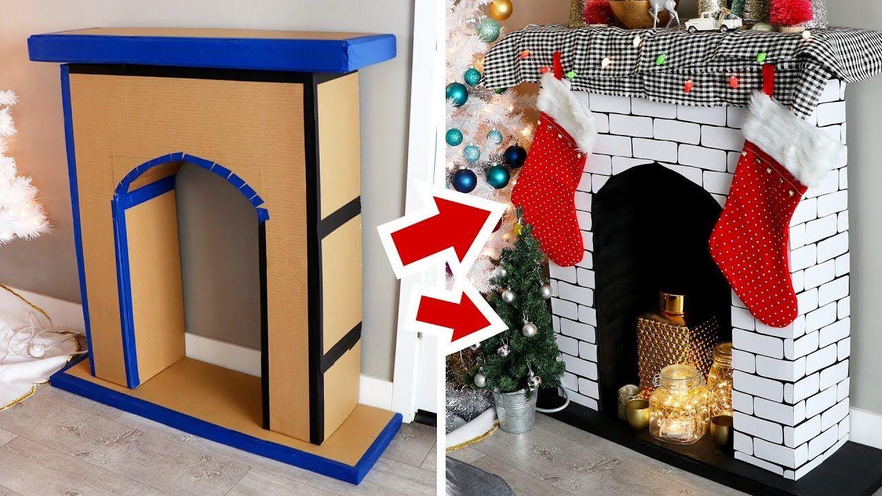 DIY Faux Fireplace made of Cardboard HGTV Handmade