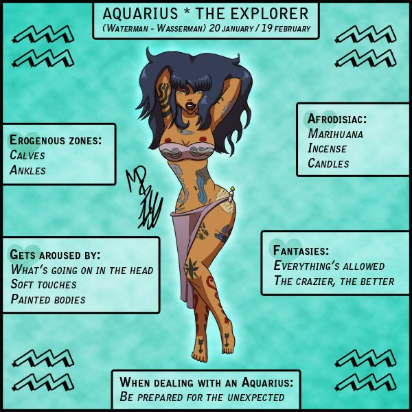 Aquarius erogenous zones