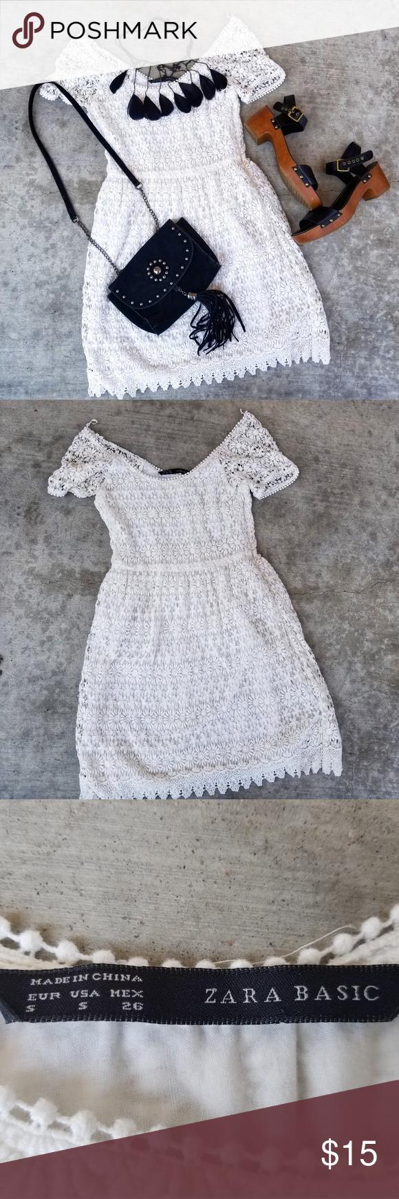 White lace dress zara  Zara lace dress  My Posh Picks  Pinterest  Lace Dress Dresses
