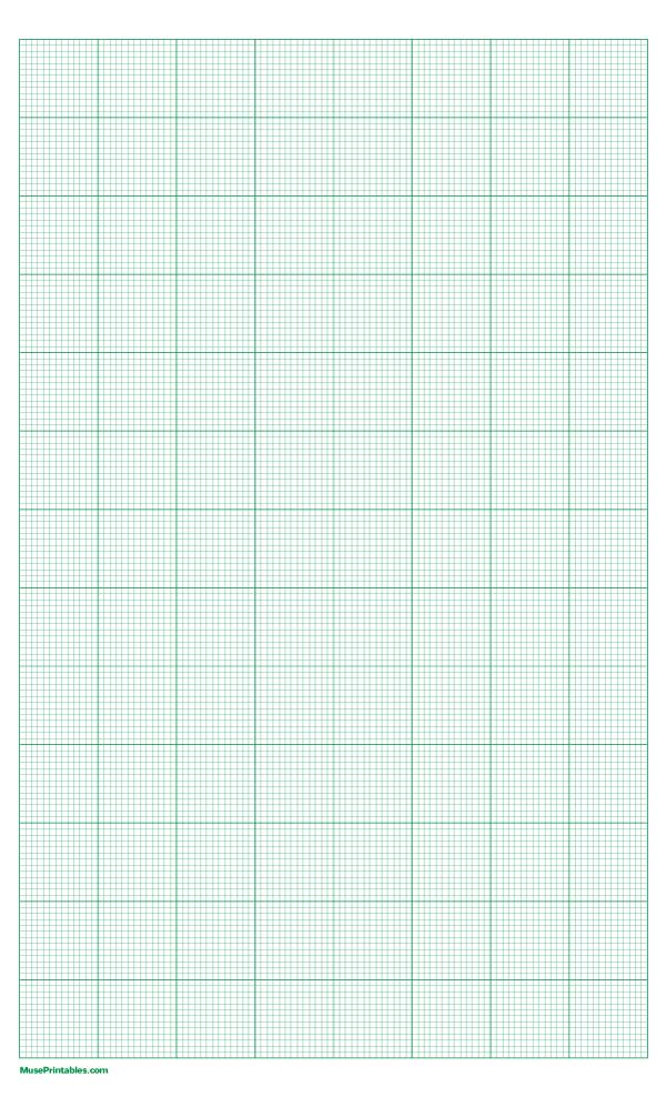 Printable 13 Squares Per Inch Green Graph Paper For Legal Paper Graph Paper Graphing Printable Paper