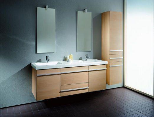 Meuble salle de bain double vasques MACENTRE ( 1300mm + 400mm