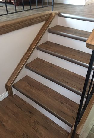 Vinyl On Stairs; Built By Cochrane Floors U0026