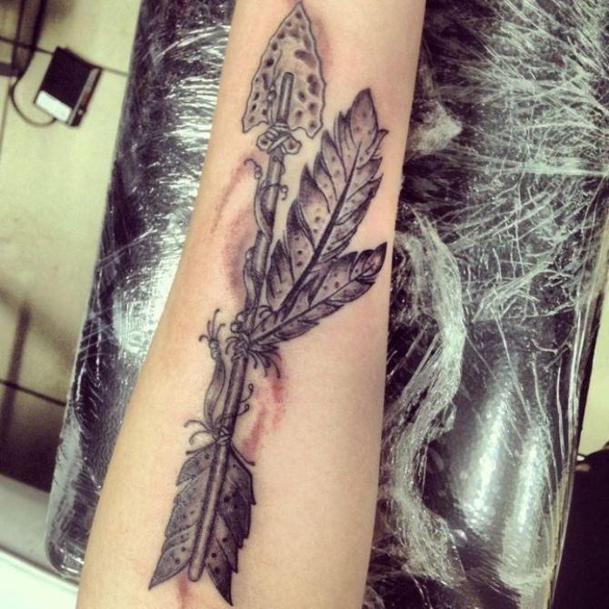 Native American Tattoos Arrow Tattoos Feather Tattoos Native
