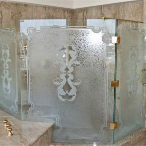 Etched Glass Shower Doors Pictures httpsanromandeescalantecom