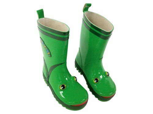 """Kidorable Frog Rain Boot (Toddler/Little Kid) KIDORABLE. $24.50. Matching Umbrella, Raincoat, Backpack, Towel & More Available. Shaft measures approximately 8"""" from arch. Rubber sole. Boot opening measures approximately 12"""" around. rubber. Soft Rubber Frog Boots are Fully Lined"""