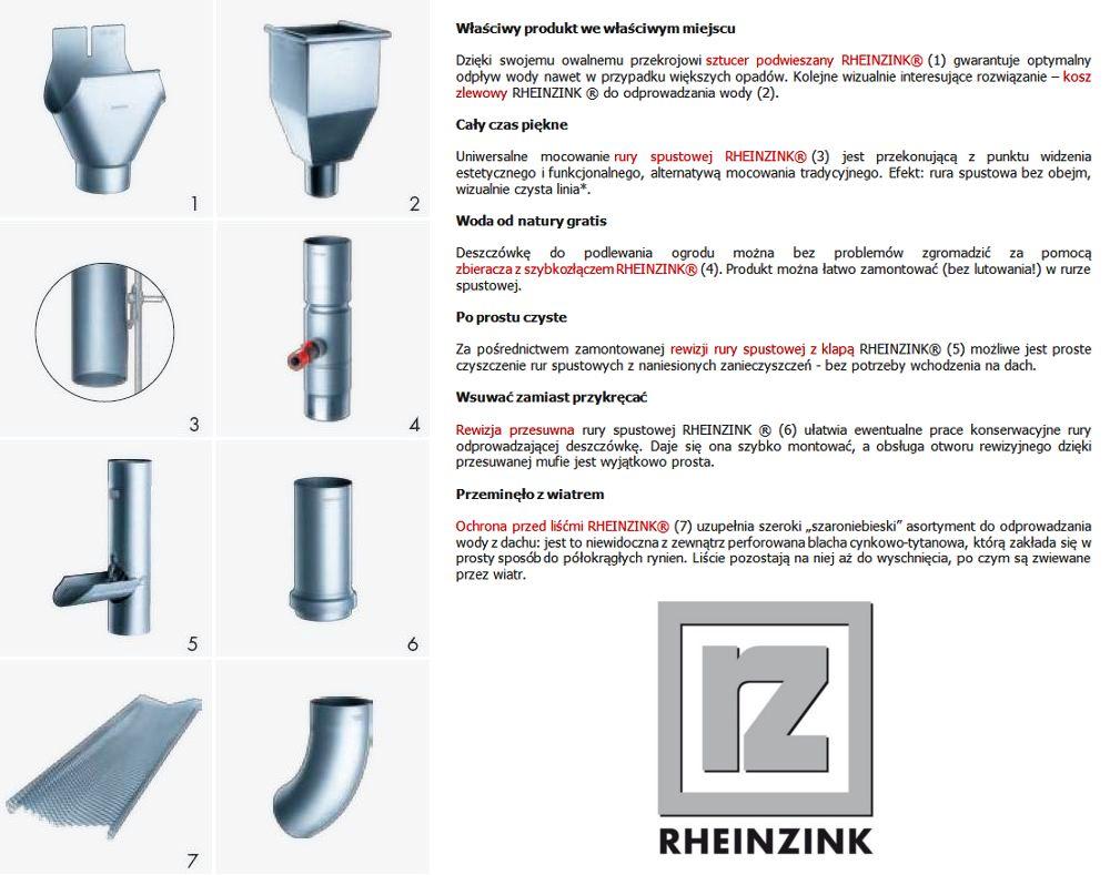 Rheinzink Elementy Odwodnienia Polaci Dachowych Tools Screwdriver
