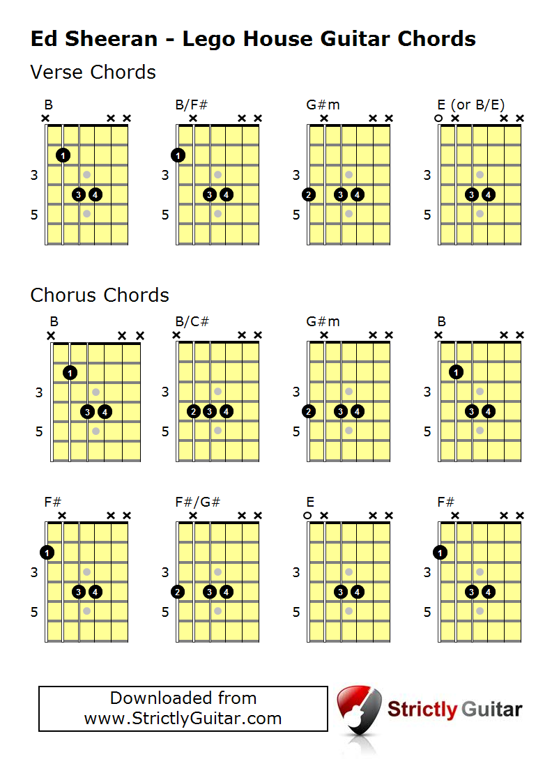 How To Play Lego House Ed Sheeran Guitar Chords Learn To Sing