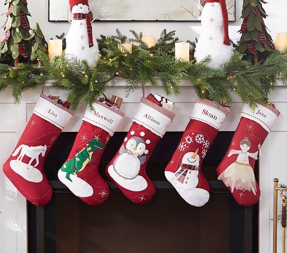 Quilted Stocking Collection Enfeites De Natal E Natal