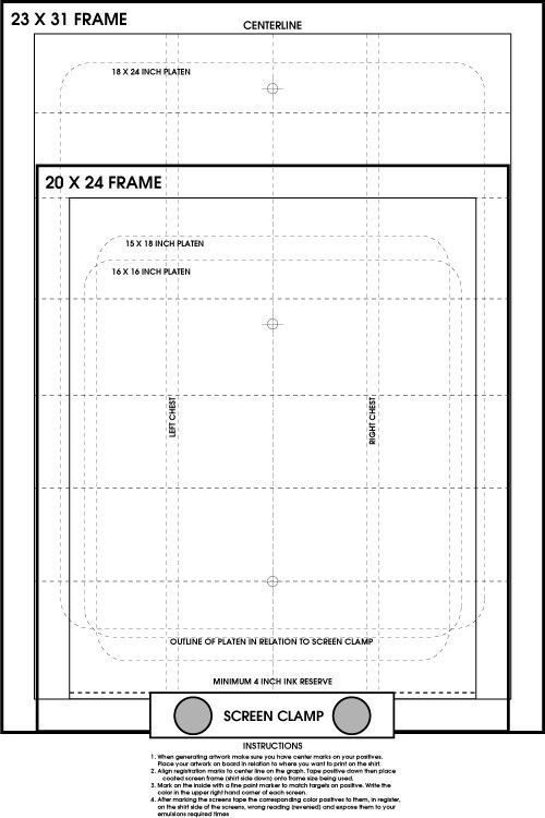 Screen Printing Pre Registration Template Poster Register Film