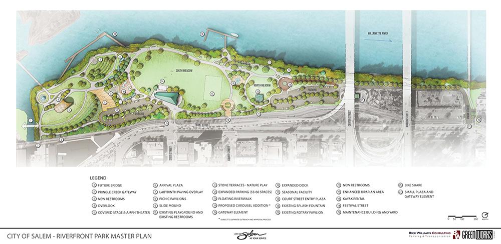 Salem Riverfront Park Master Plan Master plan, Park, How