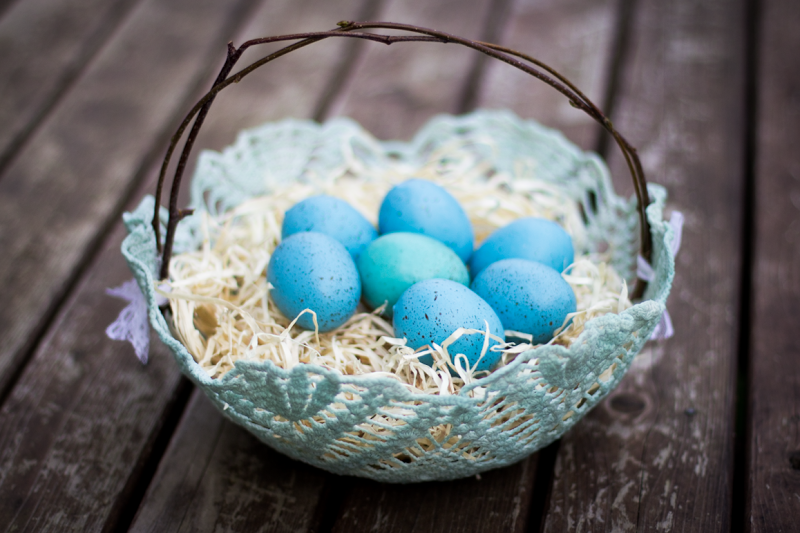 doily easter baskets