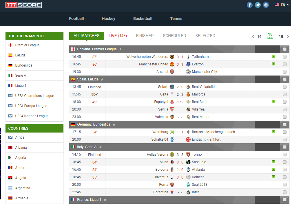 Football Livescore Football Score Soccer Results Football Results