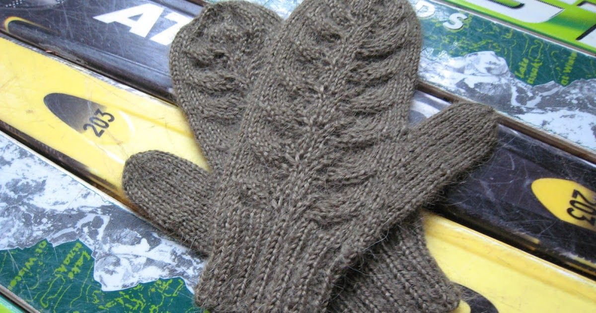 I really like to knit my mittens on two circular needles ...