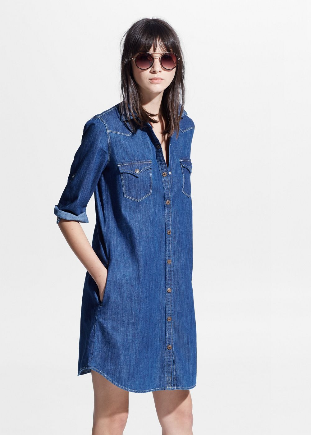 Soft denim dress denim dresses mango and dresses for Robe jean mango