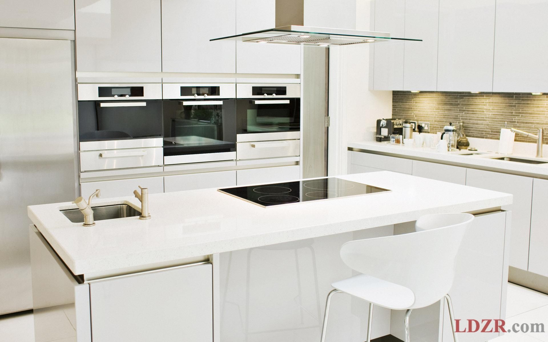 Perfect Modern Small Kitchen With Small  Interior Design Mesmerizing White Kitchen Design Inspiration