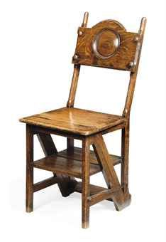 A Late Victorian Oak Metamorphic Library Step Chair Antique Chairs Chair Victorian Furniture