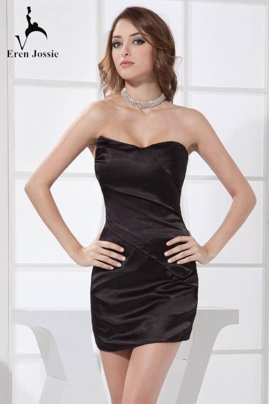 69b9e7bd1f98 Alluring Little Black Off-shoulder Sweetheart Neck Satin Short Formal Dress  #Shortdress #Shortpartydress