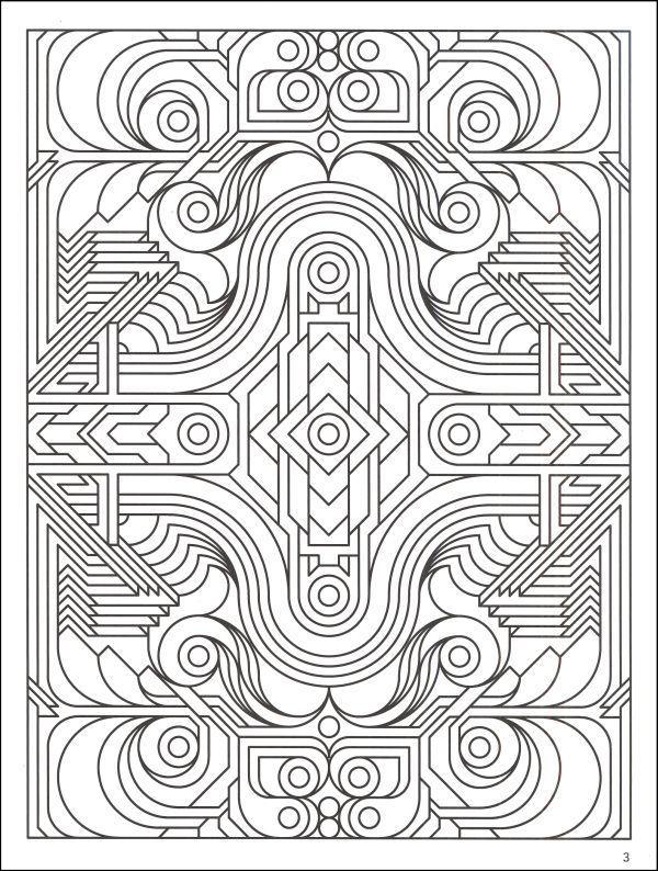Difficult Geometric Design Coloring Pages | Deco Tech ...