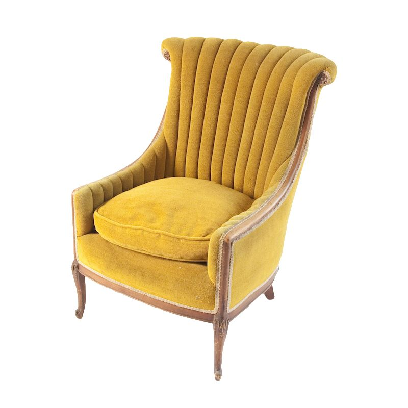 Kelly Chartreuse Chair At Found Vintage Rentals. Chartreuse Armchair With  Chartreuse Cushion Or Patterned Cushion