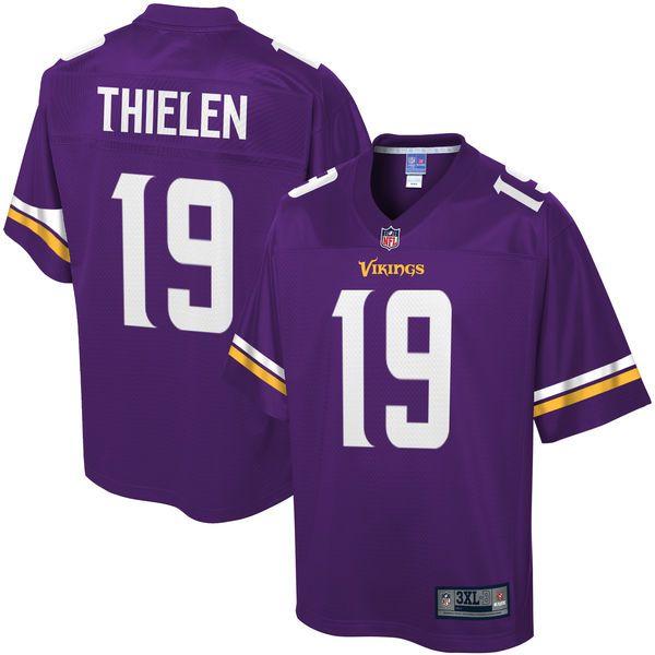 watch f8d9d 062b4 Men's Minnesota Vikings Adam Thielen NFL Pro Line Purple Big ...