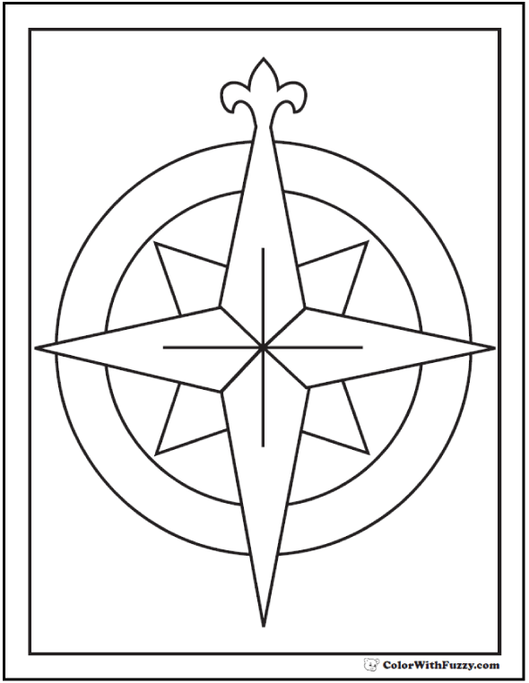 73 Rose Coloring Pages Customize Pdf Printables Rose Coloring Pages Compass Rose Coloring Pages