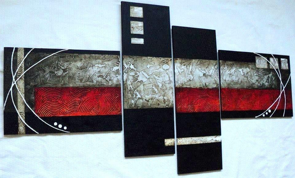 cuadros abstractos con texturas y alto relieve s en