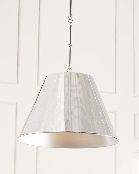 Silver Aiden 1 Light Pendant Farmhouse Style Kitchen Pendant