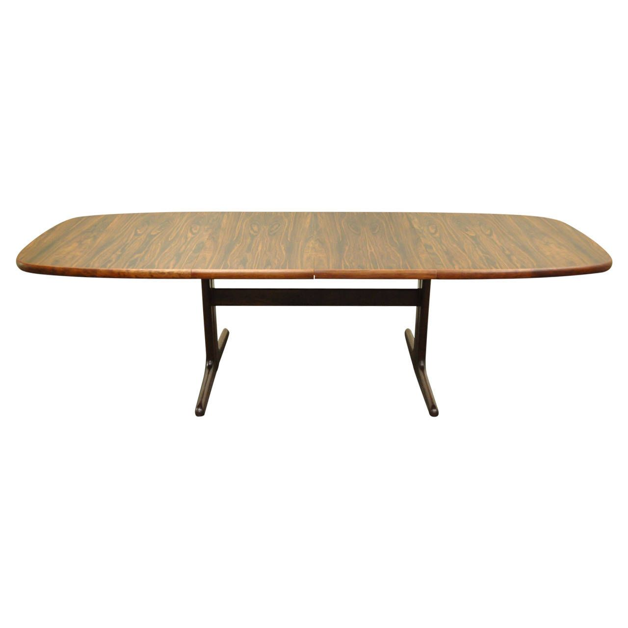 Midcentury Danish Modern Rosewood Dining Table With Two Leaves Best Danish Modern Dining Room Inspiration