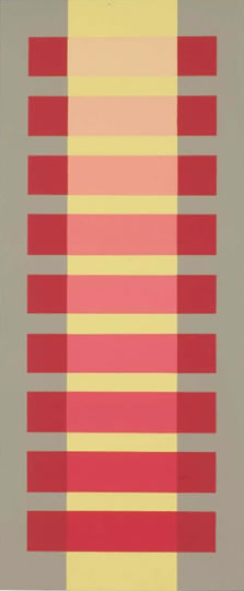 Joseph Albers - More comparative color - Albers was concerned about the effects colors had on each other when placed side by side or near one another.