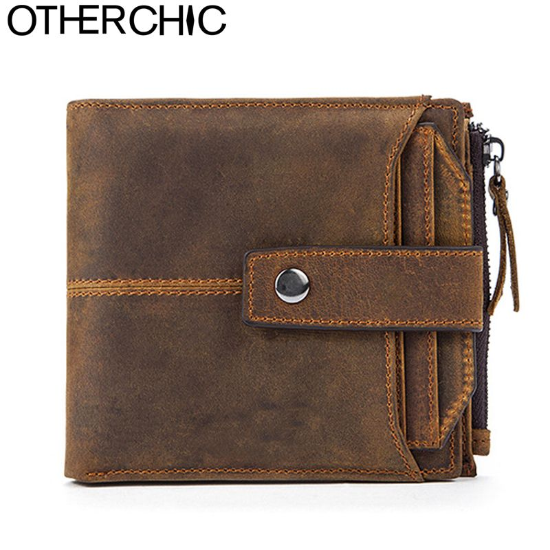 Men/'s Retro Crazy Horse Leather Long Bifold Wallet Multi-card Coin Wallet Purse