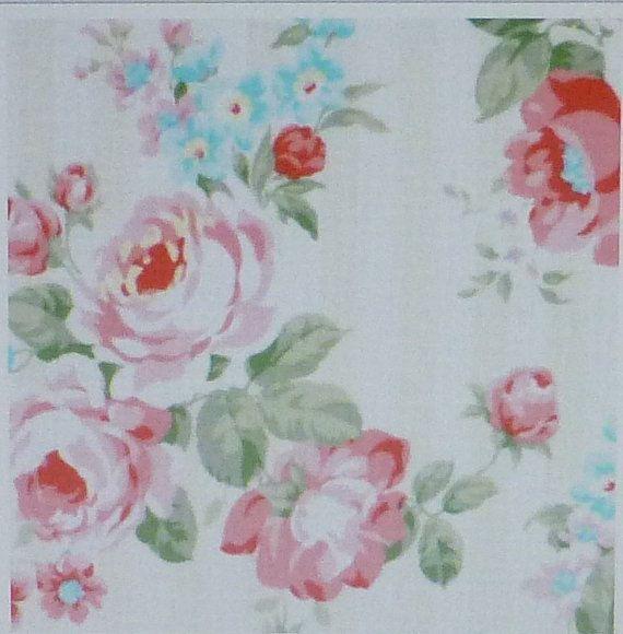 Prinzessin Rose Baumwollgewebe Quilt Floral von SuesFabricNSupplies